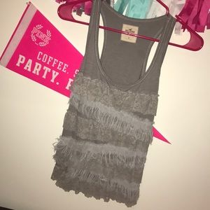hollister tank with lace detail